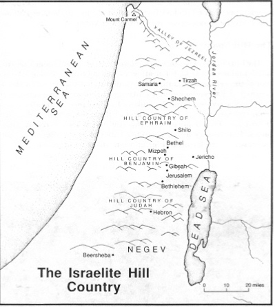 Israelite Hill Country - Concise Bible Atlas