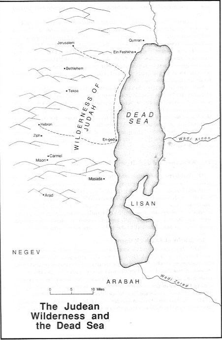 Judean Wilderness and Dead Sea - Concise Bible Atlas