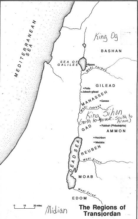 Regions of Transjordan - Concise Bible Atlas