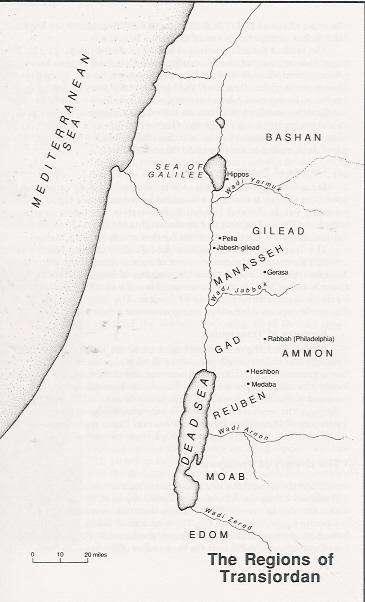 Regions of the Transjordan - Concise Bible Atlas