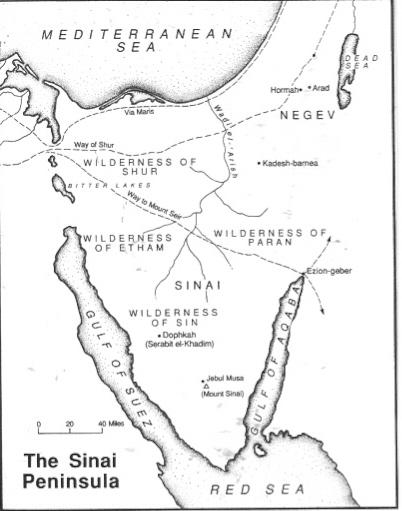 Sinai Peninsula - Concise Bible Atlas