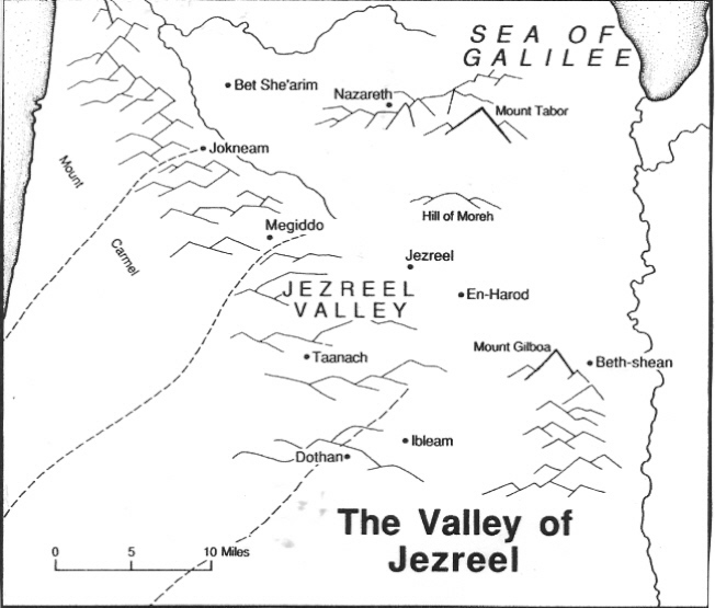 The Valley of Jezreel - Concise Bible Atlas